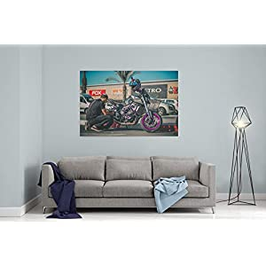 Westlake Art Canvas Print Wall Art - Motorcycle Vehicle on Canvas Stretched Gallery Wrap - Modern Picture Photography Artwork - Ready to Hang - 18x12in (x7x-037-26f)
