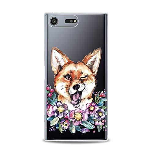 Lex Altern TPU Case Sony Xperia L3 XZ3 XZ2 Premium XA3 Ultra XA2 Plus New Cute Funny Fox Clear Silicone Animal Floral Cover Flower Print Protective Lightweight Wink Girls Women Soft Transparent Trend ()