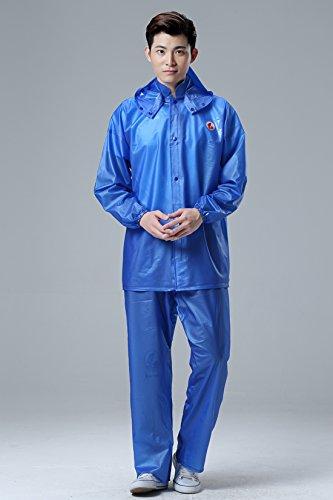 PVC Sea caoutchouc de Split Suit Imperméables pluie Pantalons Hommes Et Les Femmes de pluie Vêtements Outdoor Tour Labor Imperméable Veste imperméable Imperméables