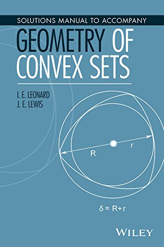 Solutions Manual to Accompany Geometry of Convex Sets -  I. E. Leonard, Teacher's Edition, Paperback