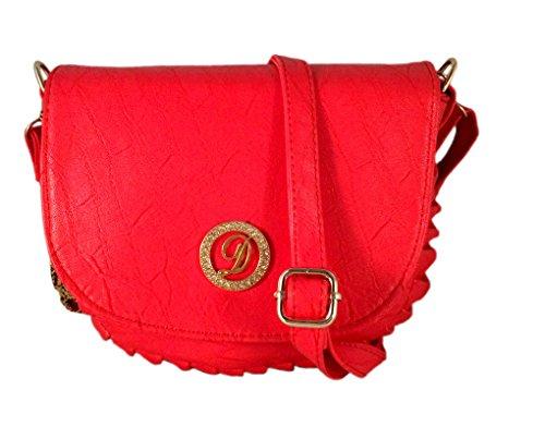 Deal Especial Fancy Unique desginer Elegante mujeres y muchachas sling bolsa regalos Red