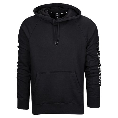 (Nike Mens M NK SB Hoodie ICON GFX H AA2032-010_XL - Black/White)