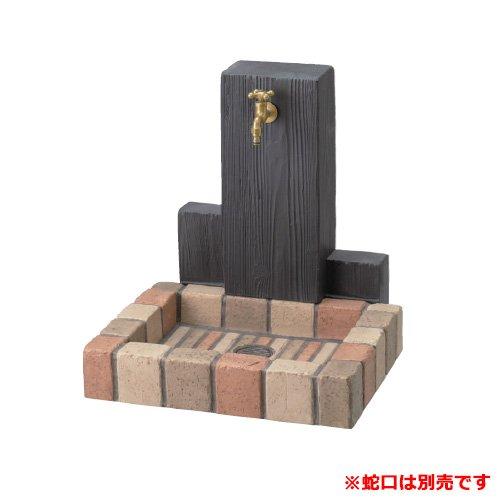 nikko 立水栓ユニット ウッドクリートタイプ 一口水栓柱+角型パンセット 蛇口別 ミックス B00RFNFK8M 多色