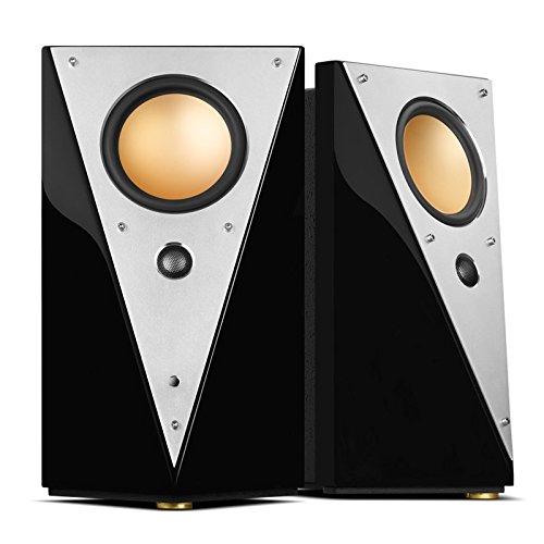 Swan Speakers - T200C - Luxurious 2.0 Powered Bookshelf Speakers - HiFi Speakers - WiFi & Bluetooth - Studio Monitors - Full Metal Front Plate - Long-Throw 5.25'' Mid-Woofer - 70W RMS