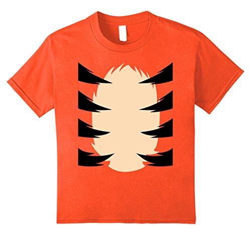 [Kids Orange Tiger Costume Shirt Kids DIY Halloween Costume TShirt 10 Orange] (3 Last Minute Diy Halloween Costumes)