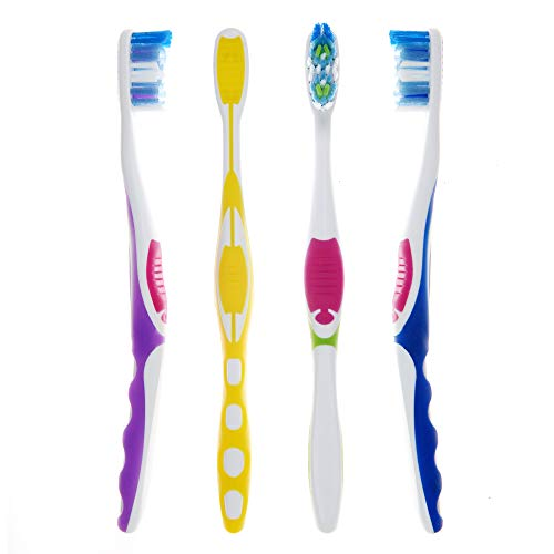 Amazon Brand - Solimo Orbit Toothbrushes, 4 Count