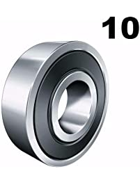Ten (10) 608-2RS 8x22x7 Precision Double Shielded Greased Ball Bearings 608 RS
