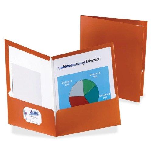 Wholesale CASE of 10 - Esselte Metallic Two Pocket Folders-Metallic Folder, 2 Pkt, 150 Set Cap, 8-1/2''x11'', Copper