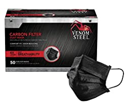 Venom Steel Carbon Filter Dust Mask, Bla...