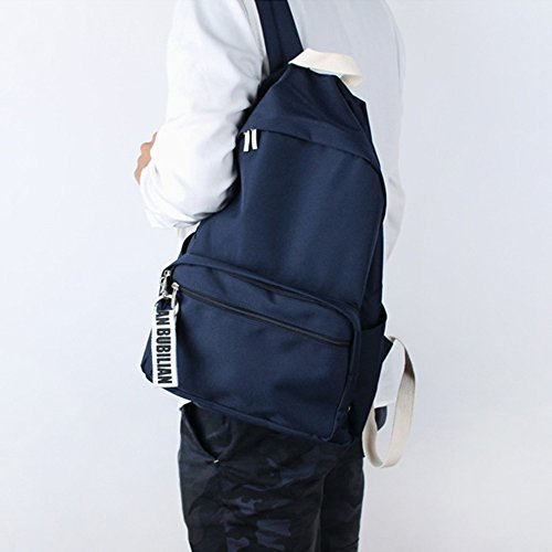 Bag Navy Bubilian Travel Brand Korean School Bag Beige Street Backpack BTBB wq78v
