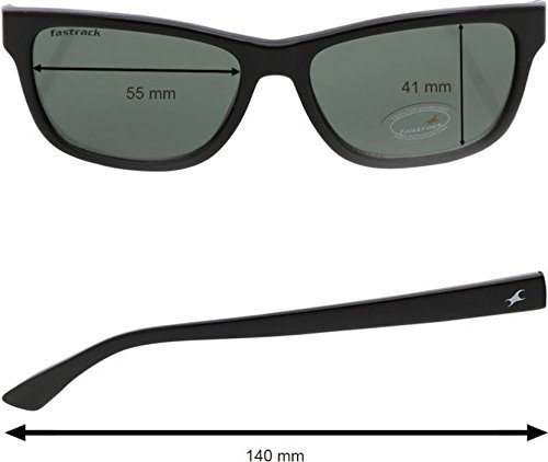 8984a47756c Fastrack UV protected Square Men s Sunglasses (P357BK1