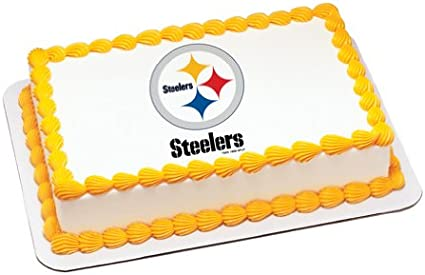 Sensational Amazon Com Nfl Pittsburgh Steelers Edible Cake Image Topper Funny Birthday Cards Online Alyptdamsfinfo