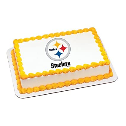 Amazoncom NFL Pittsburgh Steelers Edible Cake Image Topper