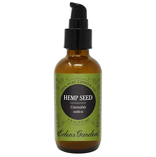 Hemp Seed (100% Pure Carrier Oil) Premium Oils by Edens Garden- 4 oz (Great For Aromatherapy, Diluting Essential Oils, Relaxing Massage and Moisturizing) (Soap Ounce 4 Eco)