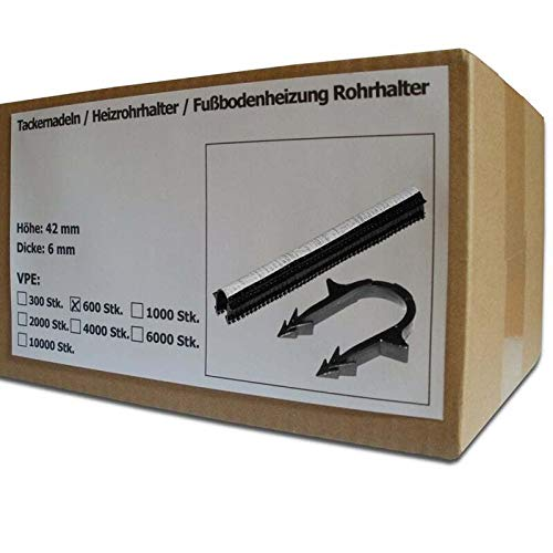 Heizrohrhalter Fu/ßbodenheizung Rohrhalter 600 St/ück SANPRO Tackernadeln