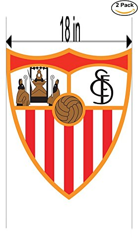 fan products of Sevilla FC Spain Soccer Football Club FC 2 Stickers Car Bumper Window Sticker Decal Huge 18 inches