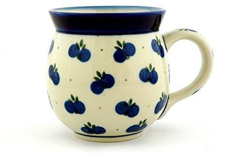 Polish Pottery Bubble Mug 16 oz Wild Blueberry