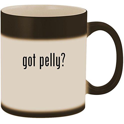 got pelly? - 11oz Ceramic Color Changing Heat Sensitive Coffee Mug Cup, Matte Black