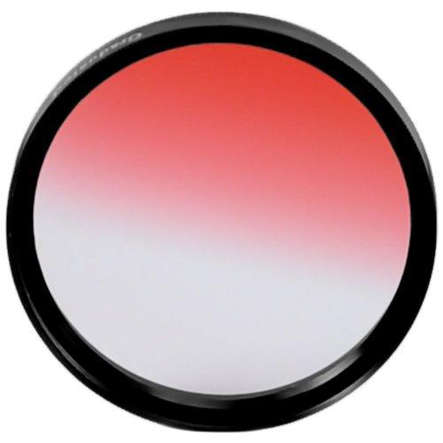 37MM Goja Graduated Red Lens Color Filter for DSLR Cameras + Premium MagicFiber Microfiber Cleaning Cloth