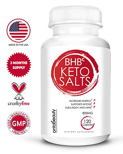 Keto Diet Pills Fat Burner – BHB Exogenous Ketones for Weight Loss – BHB Salts Keto Supplement Boosts Energy and Metabolism – Supports Your Keto Diet – 2 Months Supply of Beta Hydroxybutyrate BHB