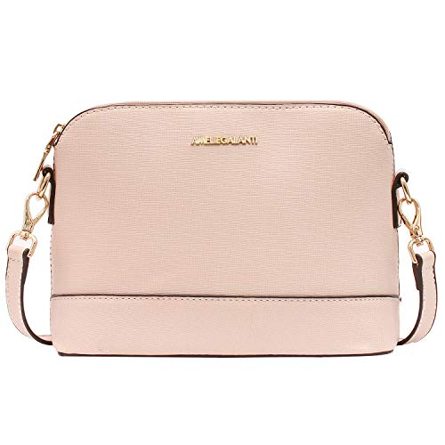 Crossbody Bags for Women, Lightweight Medium Dome Purses and Handbags with Adjustable Strap and Golden Hardwares (Pink P)