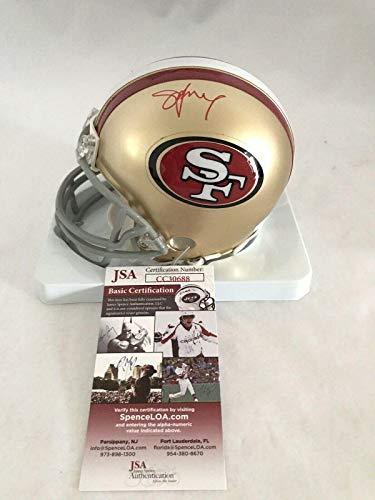 Young Mini Helmet - Autographed Steve Young Mini Helmet - BYU COUGARS RIDDELL - JSA Certified - Autographed NFL Mini Helmets