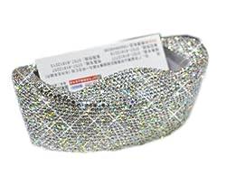 Rhinestones Stainless Steel Metal Business Card Holder (Ingots)