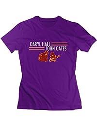 Womens Daryl Hall and John Oates Tour Leisure Travel Purple Shirts Short Sleeve