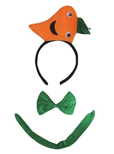 3d Fruit Costume (Petitebella 3D Headband Bowtie Tail Unisex Children 3pc Costume (3D Carrot))