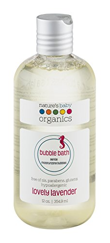 Nature's Baby Organics Moisturizing Bubble Bath, Lovely Lavender, 12 oz. | Babies, Kids, & Adults! Natural, Gentle, Soft, Rich, Hypoallergenic | No Synthetic Chemicals, Parabens, SLS, or Glutens