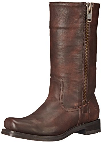 Frye Botas de Heath outside-zip para las mujeres Maple-77268