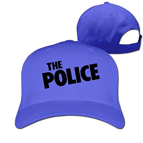 [IYaYa New Fashion The Police Adjustable Peaked Cap Hats RoyalBlue] (Cheap Police Hats)