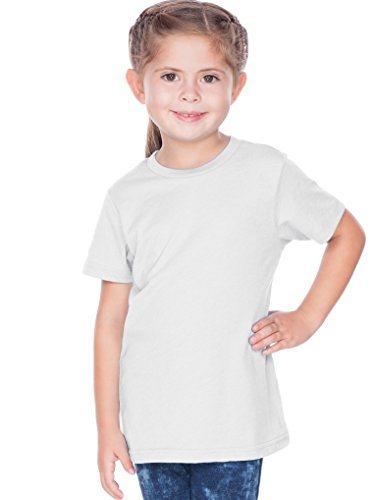 (Kavio! Toddlers Crew Neck Short Sleeve Tee Jersey (Same TJC0440) White 5T )