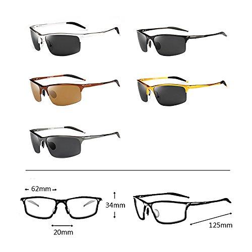 la del ULTRAVIOLETA Color al las libre GYYTYJ de Deportes aire de Protección sol SSSX polarizador de A conducen los que D sol Gafas pesca gafas de hombres wqwH6xa