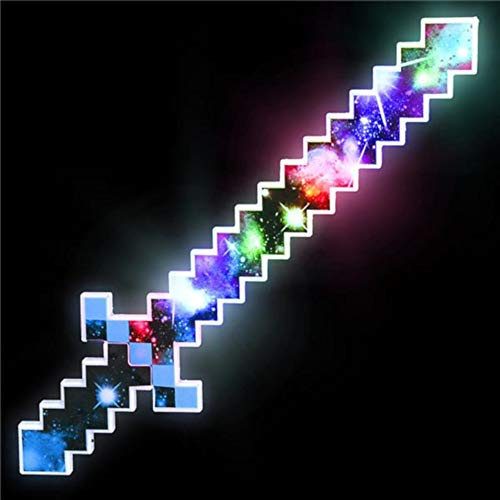 (OIG Brands Light Up Pixel Sword for Kids - 24 Inch Toy LED Saber for -Themed Birthday Party)
