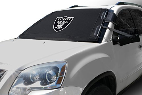 NFL FrostGuard: Winter Snow, Ice and Frost Windshield Cover - Oakland Raiders - Standard Size