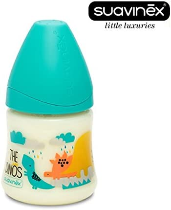 Suavinex Little Luxu resmas nº 3800057 – 1 x Phys Iolo Estratégica Baby Botella Aspiradora 3 posiciones silicona, 150 ml, 0 m +/azul: Amazon.es: Bebé
