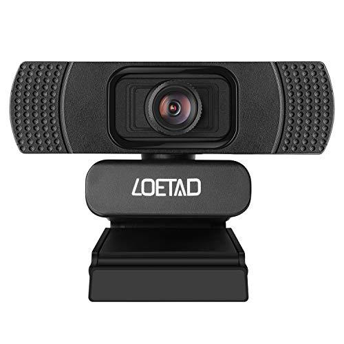 LOETAD Webcam 1080P HD Webcam for Desktop Web Camera for Laptop with Noise Reduction Microphone