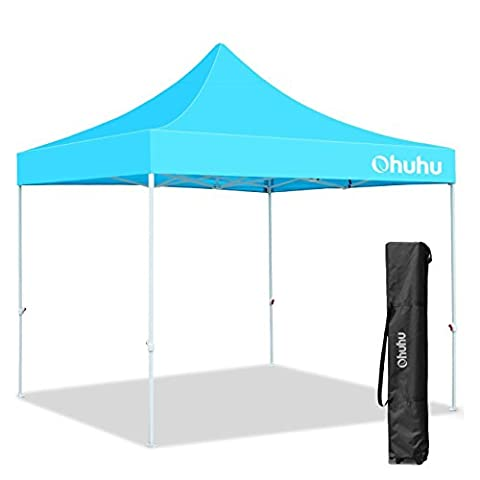 Ohuhu Pop-up Instant Shelter Canopy W/ Wheeled Carry Bag, 10 by 10 Ft, Sky Blue - Party Tent Replacement