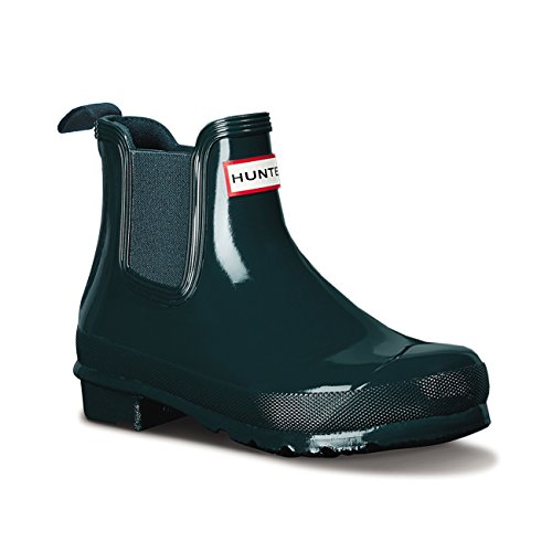 Womens Hunter Original Chelsea Gloss Wellingtons Inverno Ankle Rain Boots Ocean