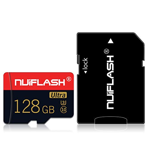 128gb Memory Micro SD Card with Adapter TF Card Class 10 High Speed Memory Card for Cellphone Surveillance Camera Tachograph Tablet Computers Drone Phone