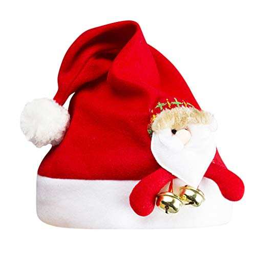 Cithy Women Winter Christmas Hat Adult Hat Spring Cap Funny Party Santa Claus Costume Hat (Red Santa)