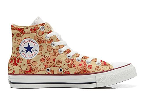 All Orange Star Customized Schuhe Handwerk Skull Hi personalisierte Converse Schuhe dqvZfpda