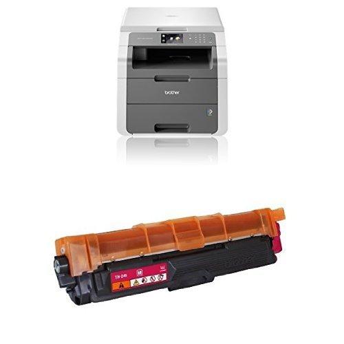 Brother DCP-9015CDW - Impresora multifunción láser color (LED), color blanco y gris + Brother TN245C - Tóner cian (duración estimada: 2.200 páginas ...