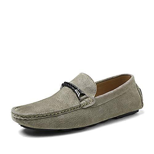 Corte Caqui Mocasines Cuero Zapatos Hombre Conducción Clásico En Antideslizante Ocasionales Mocasín Para De wzqzRHfO7