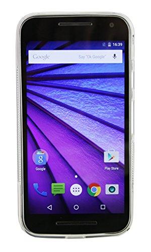 Emartbuy® Motorola Moto G3 ( 3rd Generation ) Shiny Gloss TPU Gel Funda Carcasa Case Cover Red Claro Ultrafina TPU Gel Case