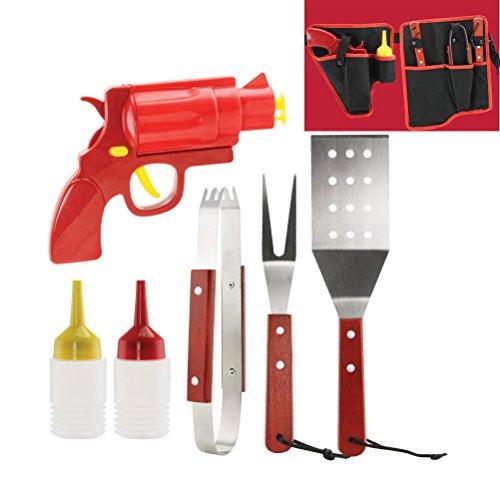 Wagon Barbecue (Smokin' Grill BBQ Tools & Condiment Dispenser)