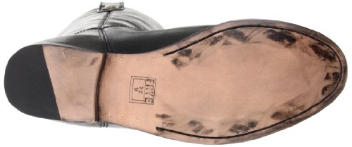 Frye Melissa Button Glazed Pelle Stivalo, Nero (Black), 37