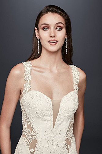 Crepe-Petite-Lace-Wedding-Dress-with-Illusion-Neckline-Style-7SWG725