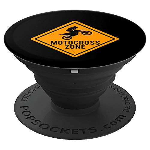 Dirt Bike Artwork | Motocross Zone Sign Art - PopSockets Grip and Stand for Phones and Tablets